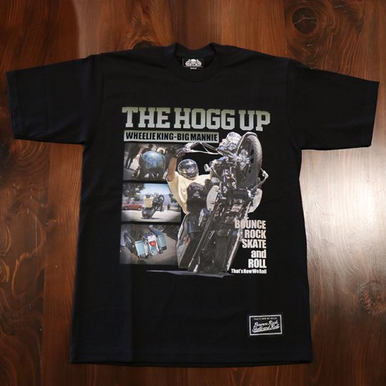 BigMannie Official 【THE HOGG UP Tシャツ】(ヘビーウェイト)ブラック