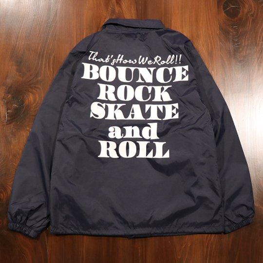 【BOUNCE ROCK SKATE and ROLL / バウンス ロック スケート アンド ロール】ナイロンコーチジャケット ネイビー