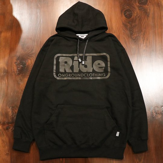 ONGROUNDCLOTHING【Ride】 Logo Hoodie (Blk/Blk) - フーディー パーカー ブラック/ブラック<img class='new_mark_img2' src='//img.shop-pro.jp/img/new/icons58.gif' style='border:none;display:inline;margin:0px;padding:0px;width:auto;' />