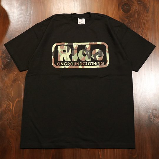 ONGROUNDCLOTHING【Ride】 Logo Camo-Drip Tee - Tシャツ カモ