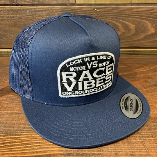 ONGROUNDCLOTHING【Motor VS Motor/Race Vibes】 Trucker Snap Back ネイビー