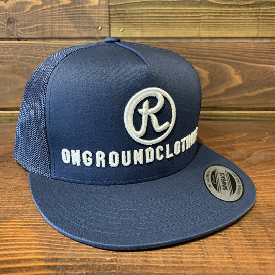 ONGROUNDCLOTHING【The R 3D Stitch】 Trucker Snap Back ネイビー