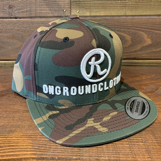 ONGROUNDCLOTHING【The R 3D Stitch】 Standard Snap Back  カモ