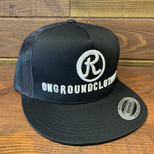 ONGROUNDCLOTHING【The R 3D Stitch】 Trucker Snap Back ブラック