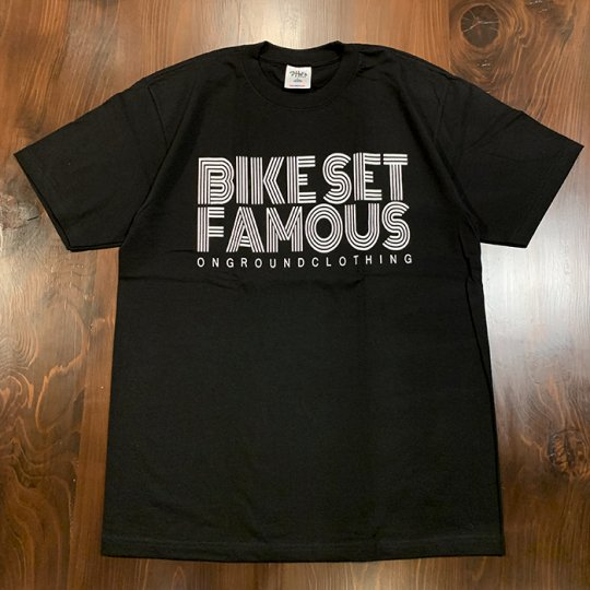 ONGROUNDCLOTHING【Bike Set Famous】 Tee  Tシャツ ブラック