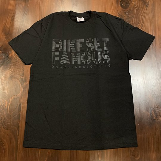 ONGROUNDCLOTHING【Bike Set Famous】 Tee  Tシャツ ブラックアウト<img class='new_mark_img2' src='//img.shop-pro.jp/img/new/icons5.gif' style='border:none;display:inline;margin:0px;padding:0px;width:auto;' />