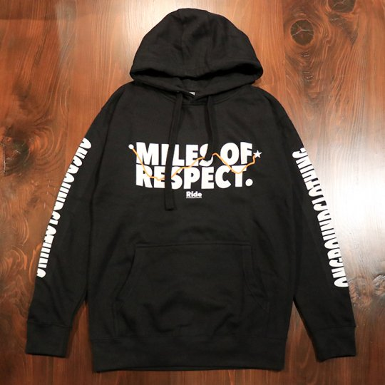 ONGROUNDCLOTHING【MILES OF RESPECT】HOODIE ブラック