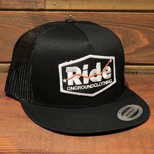 ONGROUNDCLOTHING【MILES OF RESPECT】 Trucker Snapback メッシュキャップ ブラック