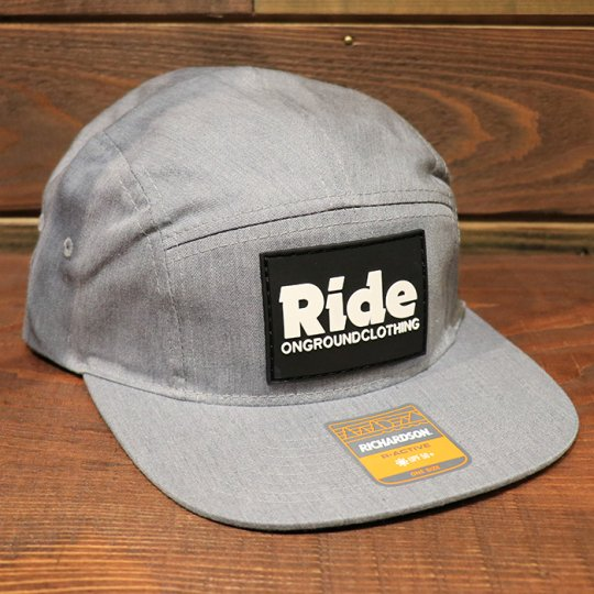 ONGROUNDCLOTHING【Ride】RubberMount Jockey Snap Strap Cap ジョッキーキャップ グレー