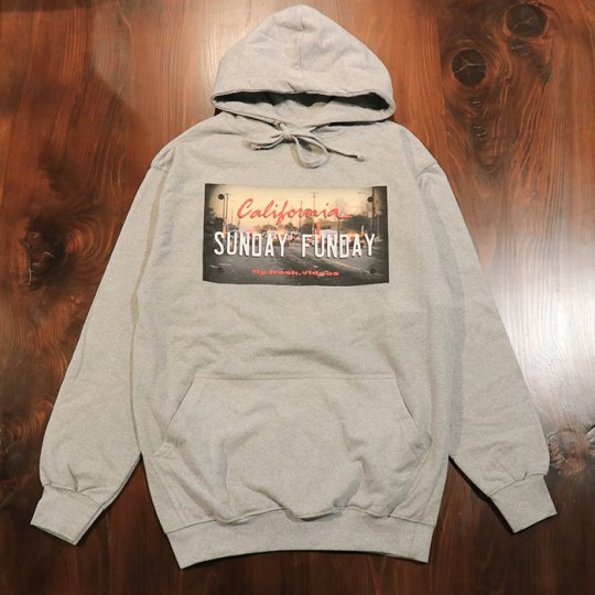 FlyFreshVideos【Sunday funday】HOODIE グレー ◆OUTLET◆