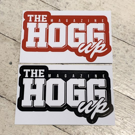 THE HOGG up MAGAZINE 【THE HOGG up MAGAZINE】Support Sticker サポートステッカー 2枚セット No.1(ブラック&レッド)