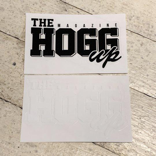 THE HOGG up MAGAZINE 【THE HOGG up MAGAZINE】Support Sticker サポートステッカー 2枚セット No.2(クリアブラック&クリアホワイト)