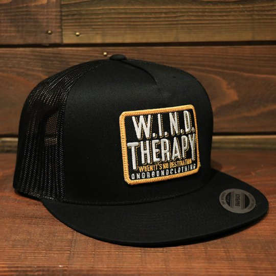 ONGROUNDCLOTHING【W.I.N.D. Therapy】 Trucker Snapback メッシュキャップ