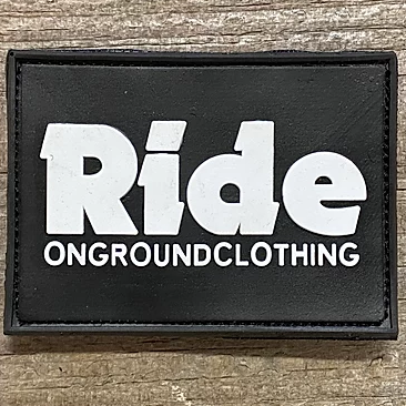 ONGROUNDCLOTHING【Ride】 Logo Rubber Mount Support Patch ラバーパッチ
