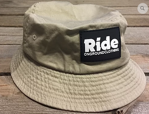 ONGROUNDCLOTHING【Ride】Rubber Mount Bucket Hat バケットハット カーキ