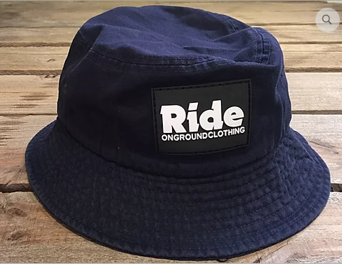 ONGROUNDCLOTHING【Ride】Rubber Mount Bucket Hat バケットハット ネイビー