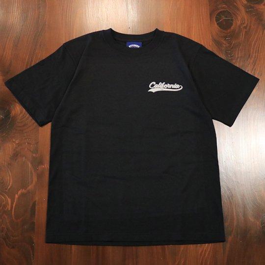 Attract Street Gear【California Photo】T-shirt Tシャツ TYPE-B ソフト ブラック Sサイズ