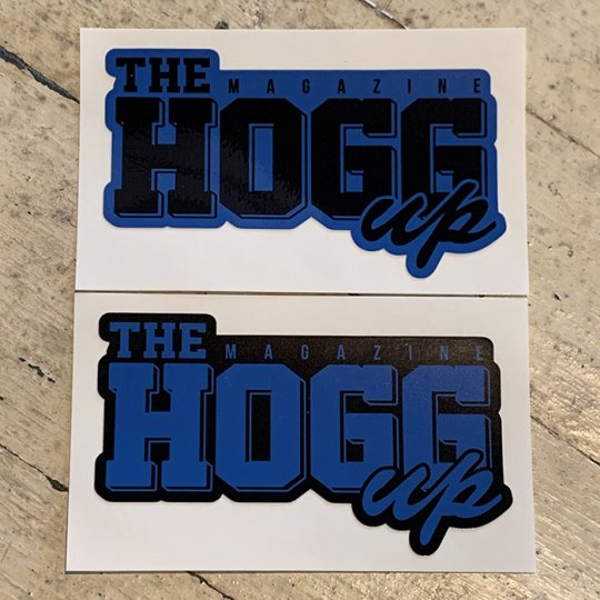 THE HOGG up MAGAZINE 【THE HOGG up MAGAZINE】Support Sticker サポートステッカー 2枚セット No.3(ロイヤルブルーセット)<img class='new_mark_img2' src='//img.shop-pro.jp/img/new/icons5.gif' style='border:none;display:inline;margin:0px;padding:0px;width:auto;' />