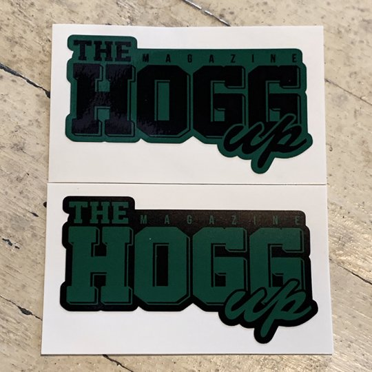 THE HOGG up MAGAZINE 【THE HOGG up MAGAZINE】Support Sticker サポートステッカー 2枚セット No.4(ダークグリーンセット)<img class='new_mark_img2' src='//img.shop-pro.jp/img/new/icons5.gif' style='border:none;display:inline;margin:0px;padding:0px;width:auto;' />