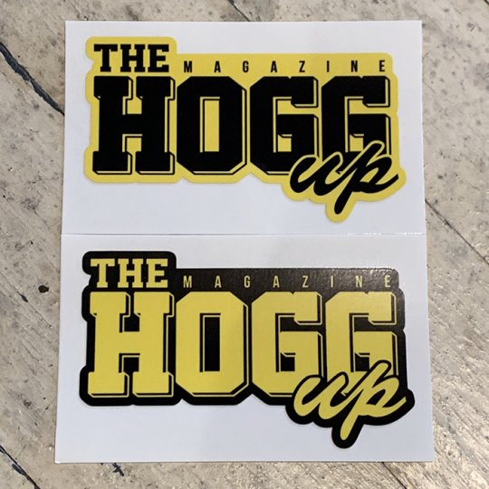 THE HOGG up MAGAZINE 【THE HOGG up MAGAZINE】Support Sticker サポートステッカー 2枚セット No.5(イエローセット)