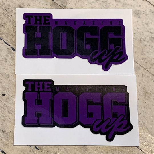 THE HOGG up MAGAZINE 【THE HOGG up MAGAZINE】Support Sticker サポートステッカー 2枚セット No.6(パープルセット)