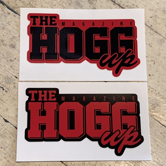 THE HOGG up MAGAZINE 【THE HOGG up MAGAZINE】Support Sticker サポートステッカー 2枚セット No.7(レッドセット)