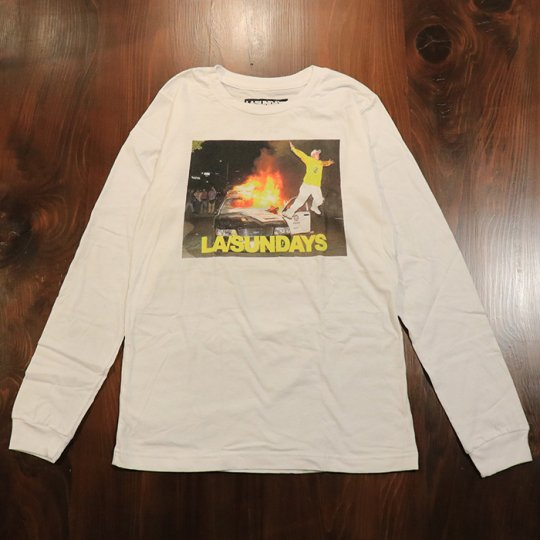 LASundays Police Fire  L/S ロンT ホワイト