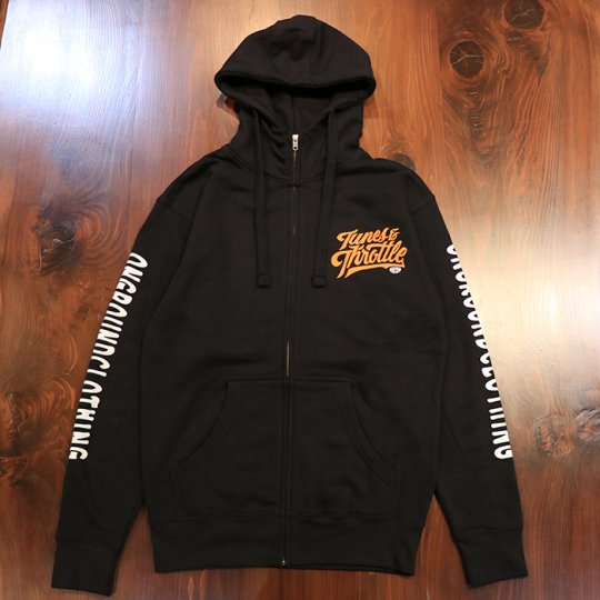 ONGROUNDCLOTHING【Tunes & Throttle】ZIP HOODIE ブラック