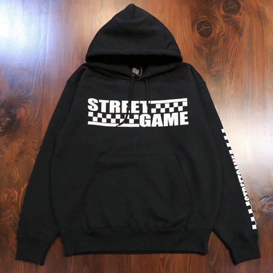 STREETGAME 【CHECKER】 HOODIE (裏起毛) ブラック