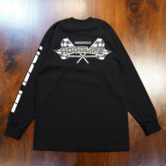Attract Street Gear【HoggLife】 Long Sleeve Tee ロンT ブラック/オレンジ<img class='new_mark_img2' src='https://img.shop-pro.jp/img/new/icons5.gif' style='border:none;display:inline;margin:0px;padding:0px;width:auto;' />
