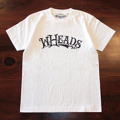 W-HEADS 「wheads Tシャツ」 ホワイト / ブラック
