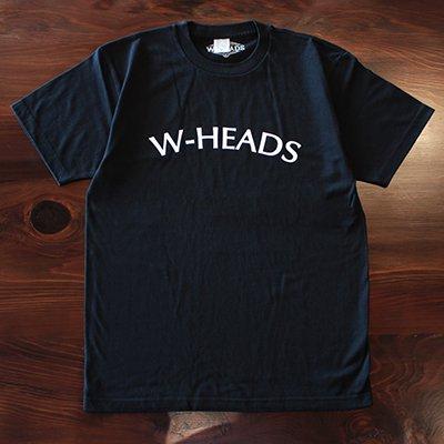 W-HEADS 「WH Tシャツ」 ブラック / ホワイト