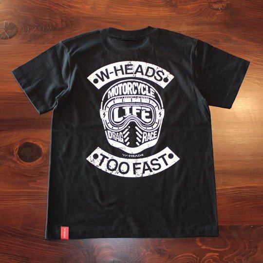 W-HEADS 「WHMC Tシャツ」 ブラック