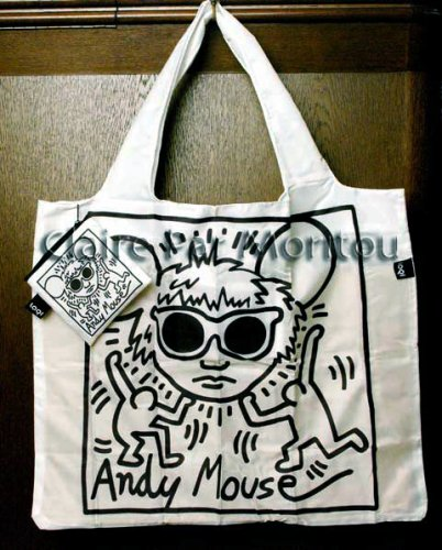 91210LOQI KEITH HARING Andy Mouse トートバッグ
