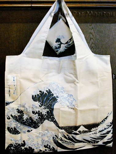 01254LOQI HOKUSAI The Great Wave1831 HOWA トートバッグ