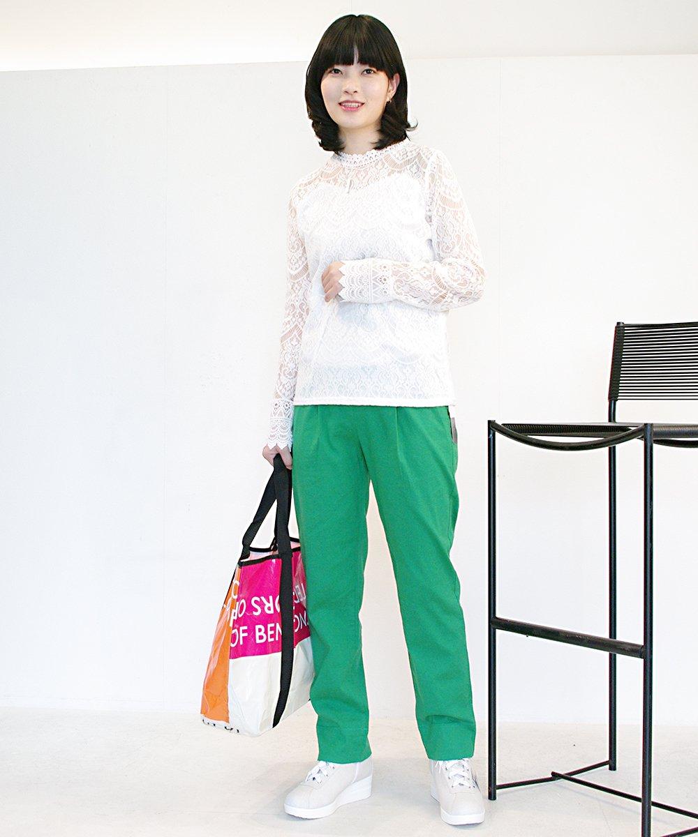 VIEWL綿麻混テーパードパンツ(3月中旬納品予定)