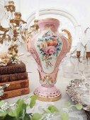 セーヴルスタイル 薔薇花紋フローラルベース