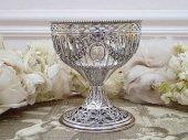 逸品 純銀 薔薇ガーランドのボンボンディッシュ