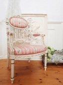 甘美 リボン装飾のフレンチアームチェア