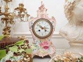 逸品 宮廷サロン ロイヤルボン花紋置時計