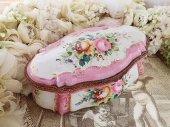 優美 パリ窯セーブルスタイル 薔薇花紋コフレアビジュー