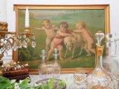 古典油彩絵画 天使の戯れ