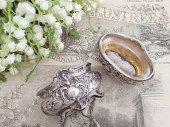 純銀 ロココ装飾 ソルトディッシュ