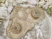 レア リボンと薔薇ガーランド装飾 ブロンズインクウェル