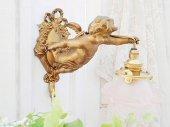 薔薇と天使のブラケットランプ