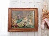 多色刷美術印刷 額装 『森の妖精と天使』
