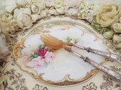 優美 リモージュ 金彩 薔薇のトレイ