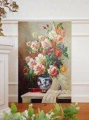 パリの画廊 薔薇の静物画油絵(A)