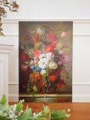 パリの画廊 薔薇の静物画油絵(B)