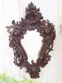 曲線が美しい木製彫刻のフレンチミラー